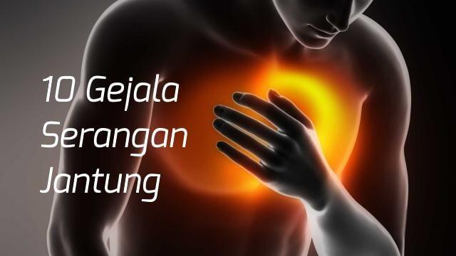 10 gejala serangan jantung